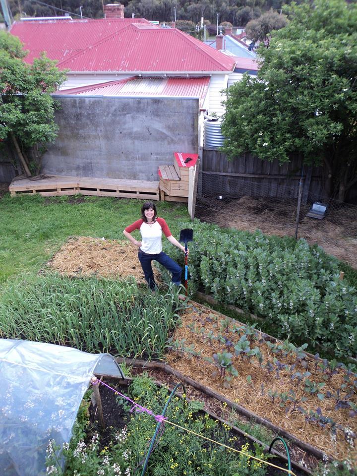 Hannah in garden